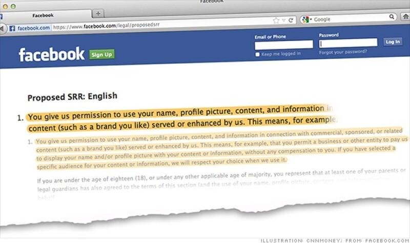 facebook cambio