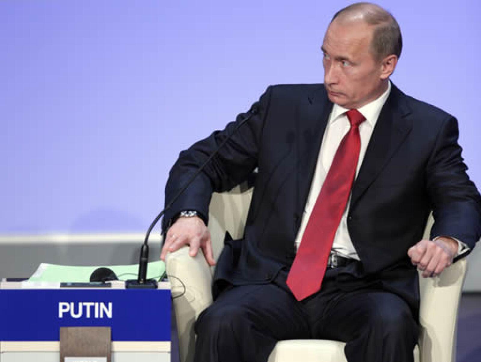 El primer ministro ruso, Vladimir Putin, comparó en su discurso a la crisis mundial con una tormenta perfecta, por la conjunción de elementos naturales y la multiplicación de su capacidad destructiva. (Foto: World Economic Forum)