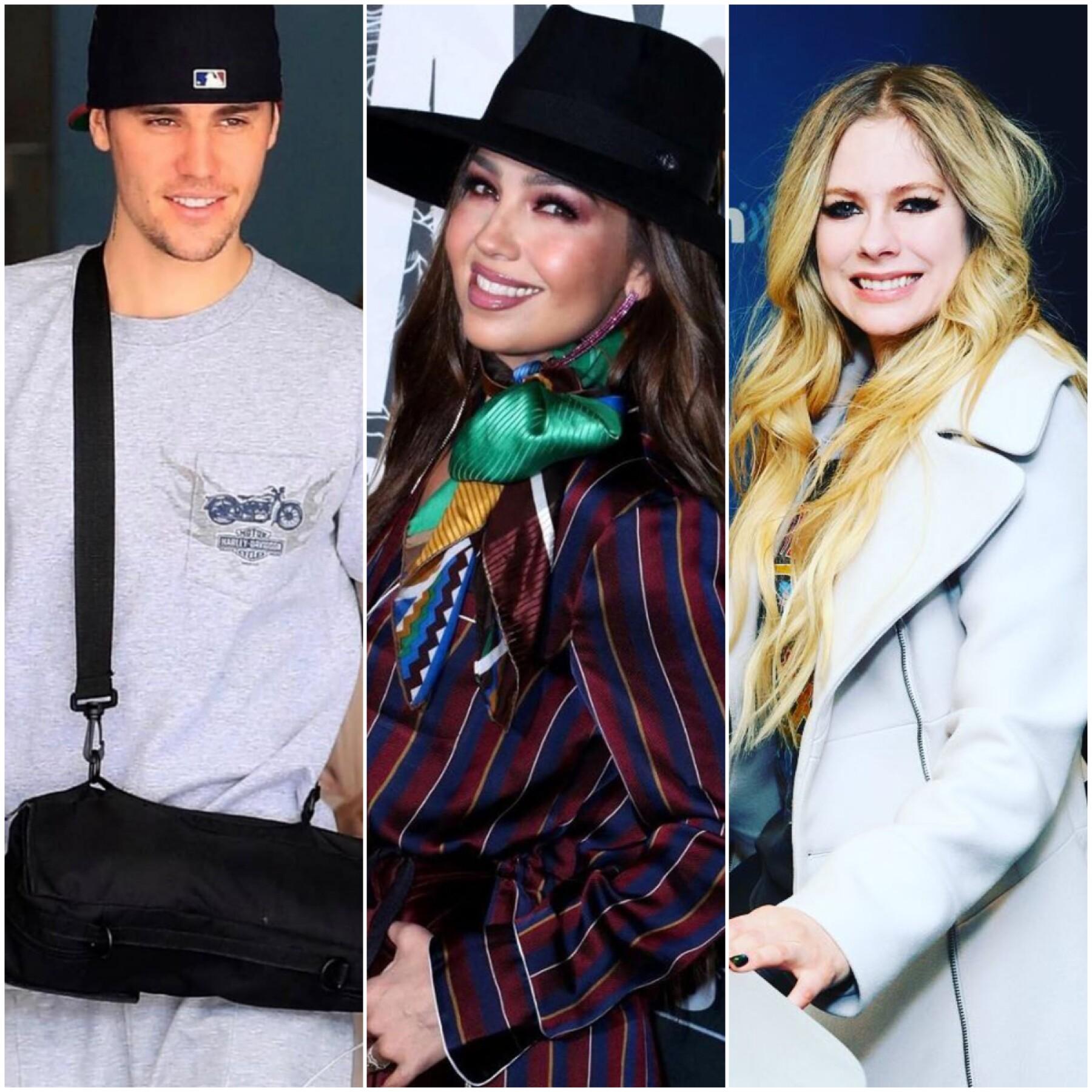 Justin Bieber, Thalía y AvrilLavigne