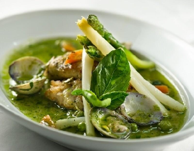 Este es uno de los deliciosos platillos que los chefs Ulf y Bernhard tienen en Trío.