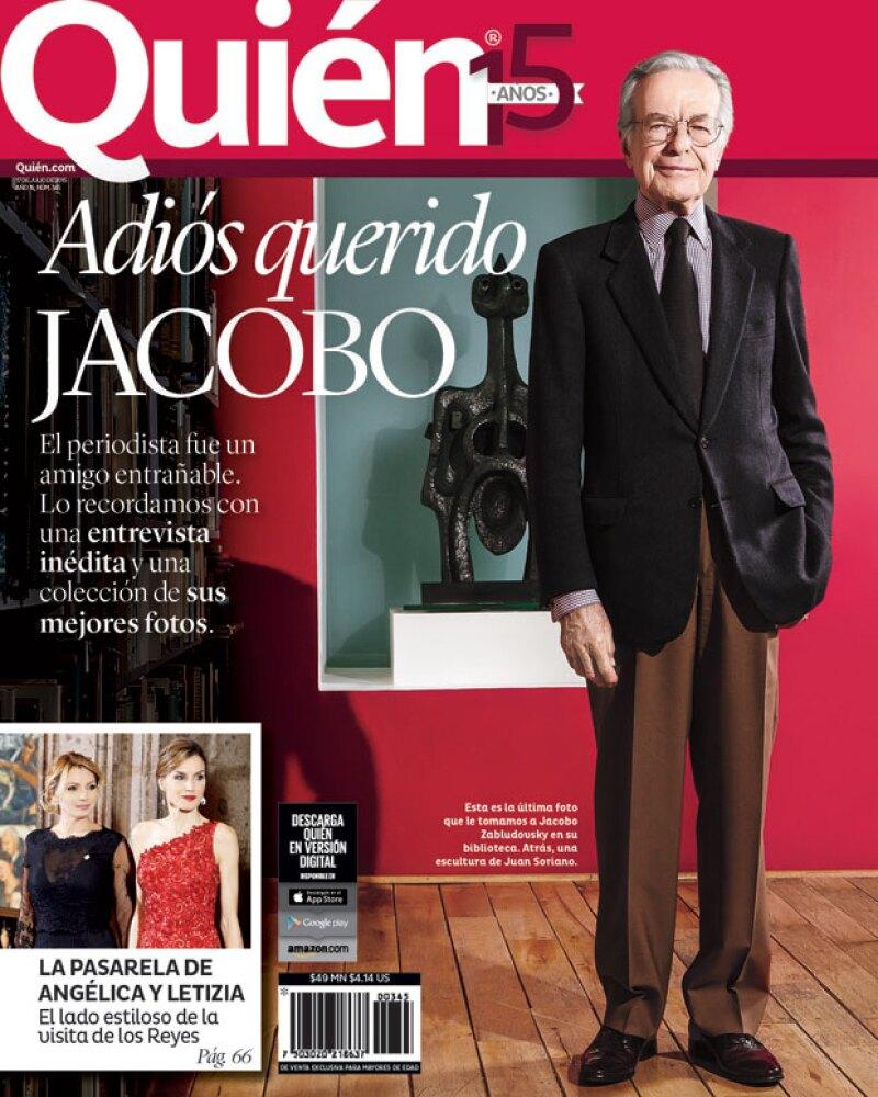 En esta nueva edición de la revista Quién® tenemos un homenaje póstumo a la trayectoria del periodista mexicano con una entrevista nunca antes publicada.