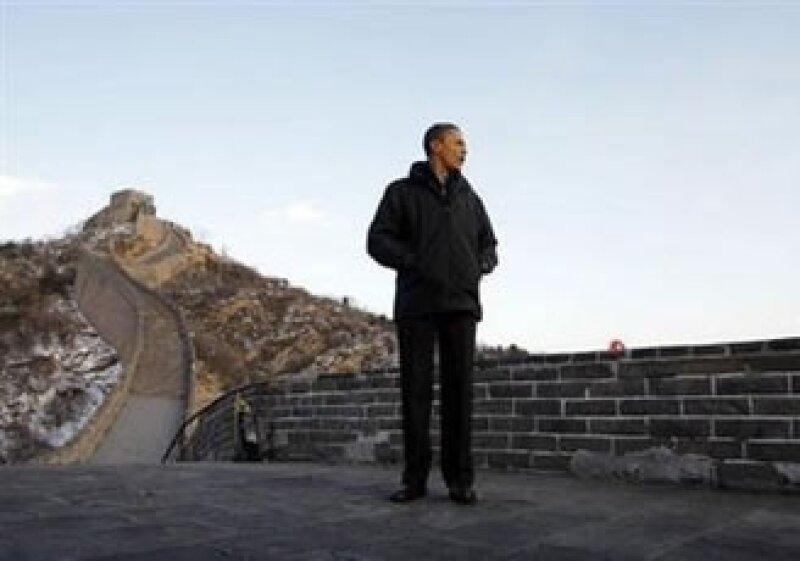 El mandatario estadounidense, Barack Obama, visitó la Gran Muralla china. (Foto: Reuters)