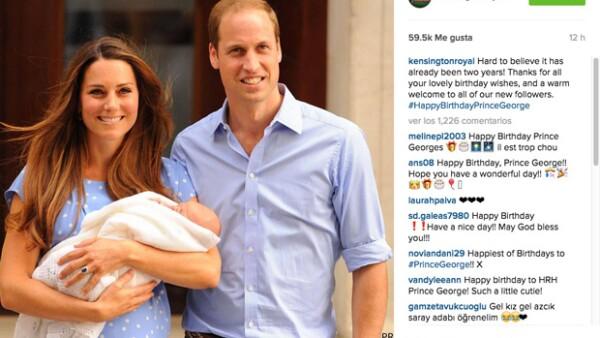 Sin duda el segundo aniversario del hijo de William y Kate no pasó desapercibido en Londres, gracias al tributo de la Banda de la Guardia Real.