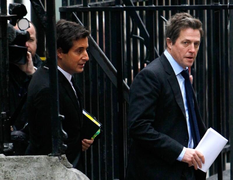 El actor inglés compareció ante un juez para hablar sobre el caso de intromisión a su privacidad del cual fue víctima en Inglaterra.