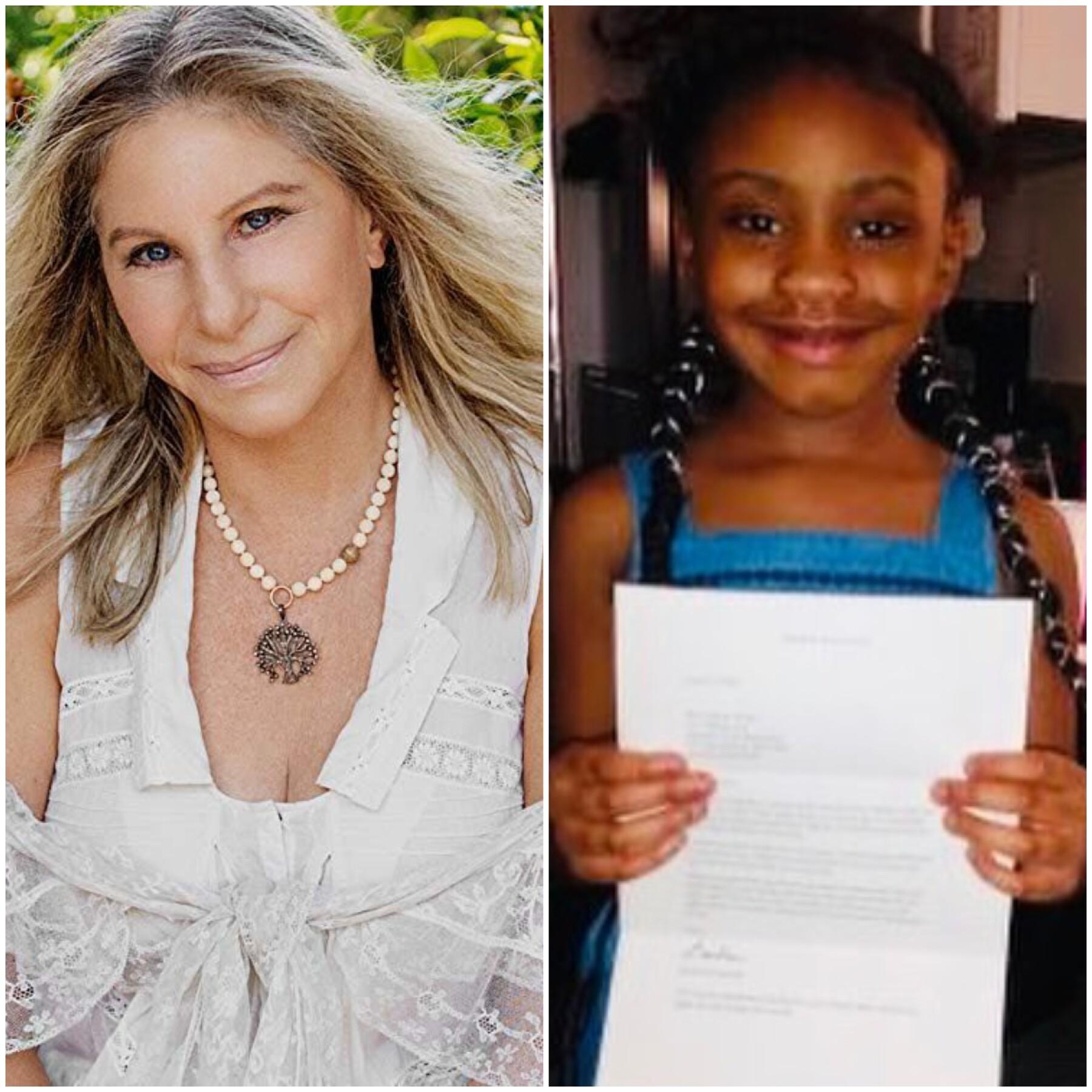 Barbra Streisand y Gianna Floyd.