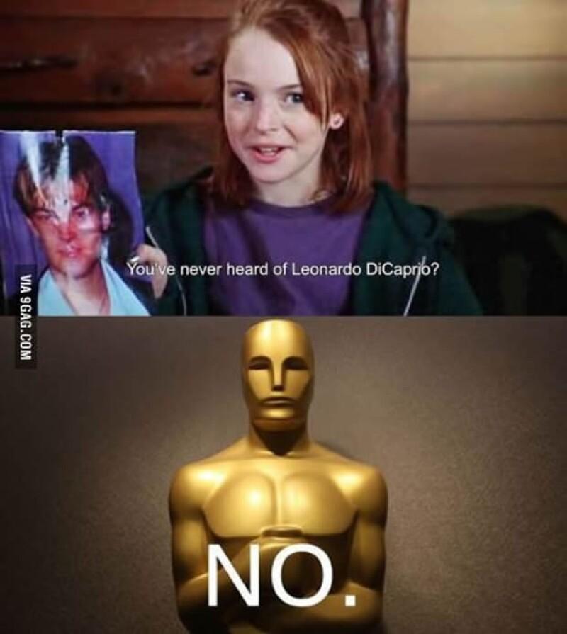 """Y hasta Lindsay Lohan se """"burla"""" de que no ganó el Oscar Leo."""