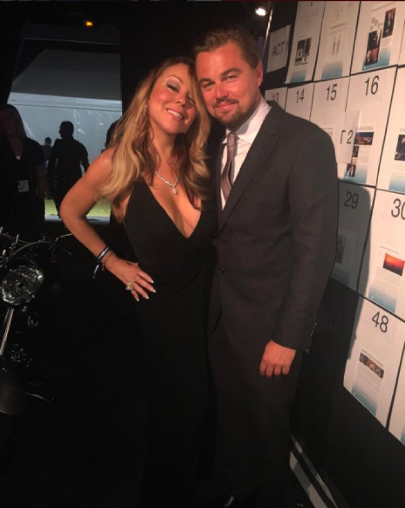 Mariah Carey no perdió oportunidad de tomarse una foto con uno de los galanes de Hollywood más deseados.