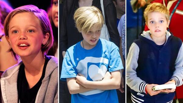 Así ha sido la transformación del pelo de Shiloh en estos últimos meses: cada vez más corto.