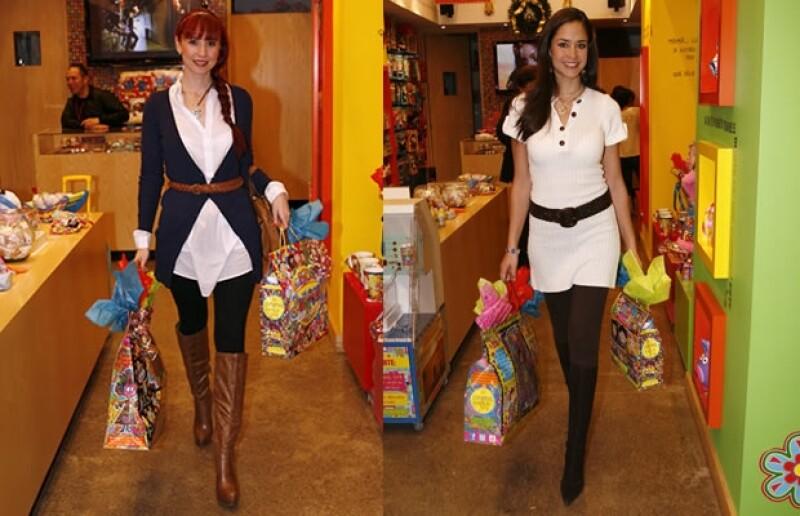 La actriz y la modelo se reunieron para pasar una tarde en la tienda Distroller de Altavista para escoger regalos para su familia y amigos.