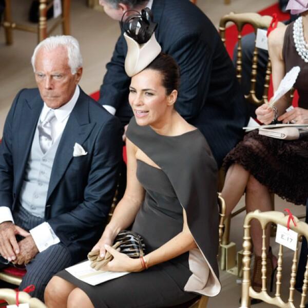 El creador del vestido, el italiano Giorgio Armani.