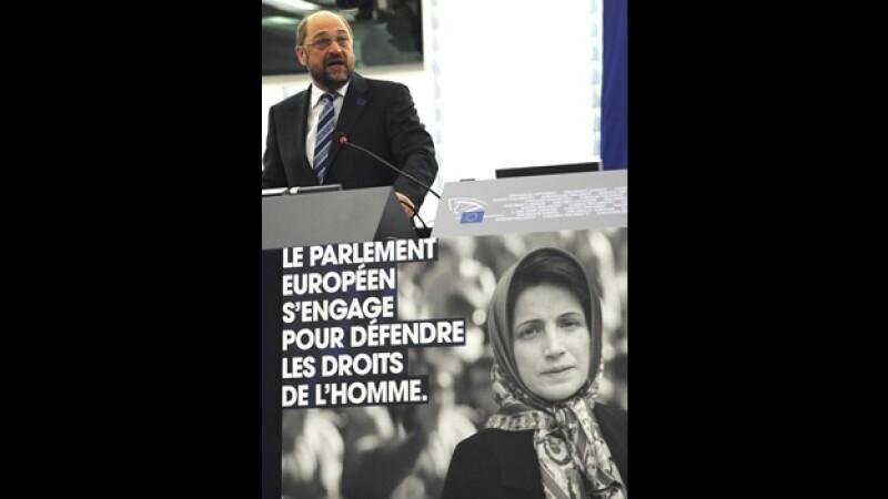 entrega del premio a la libertad de conciencia a Nasrin Sotoudeh