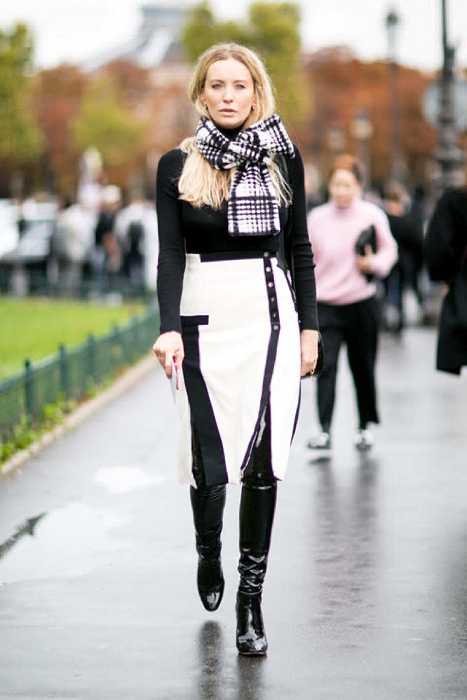 Blanco y negro, el clásico perfecto.