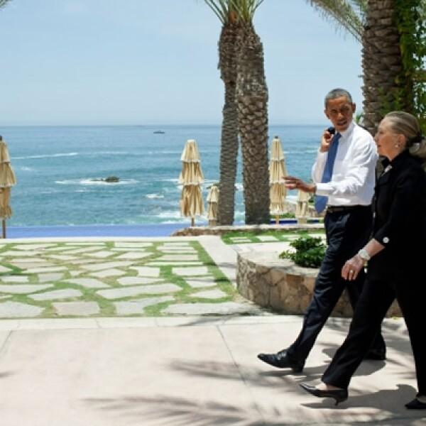Esta lujosa residencia en Cabo San Lucas, se convirtió en el bunker del Presidente Barack Obama, la Secretaria de Estado Hillary Clinton y los miembros de la delegación estadounidense durante la Cumbre G-20.