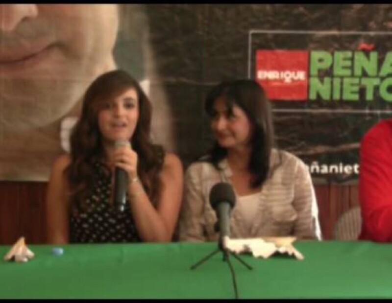 La cantante se expresó en favor del candidato del PRI.