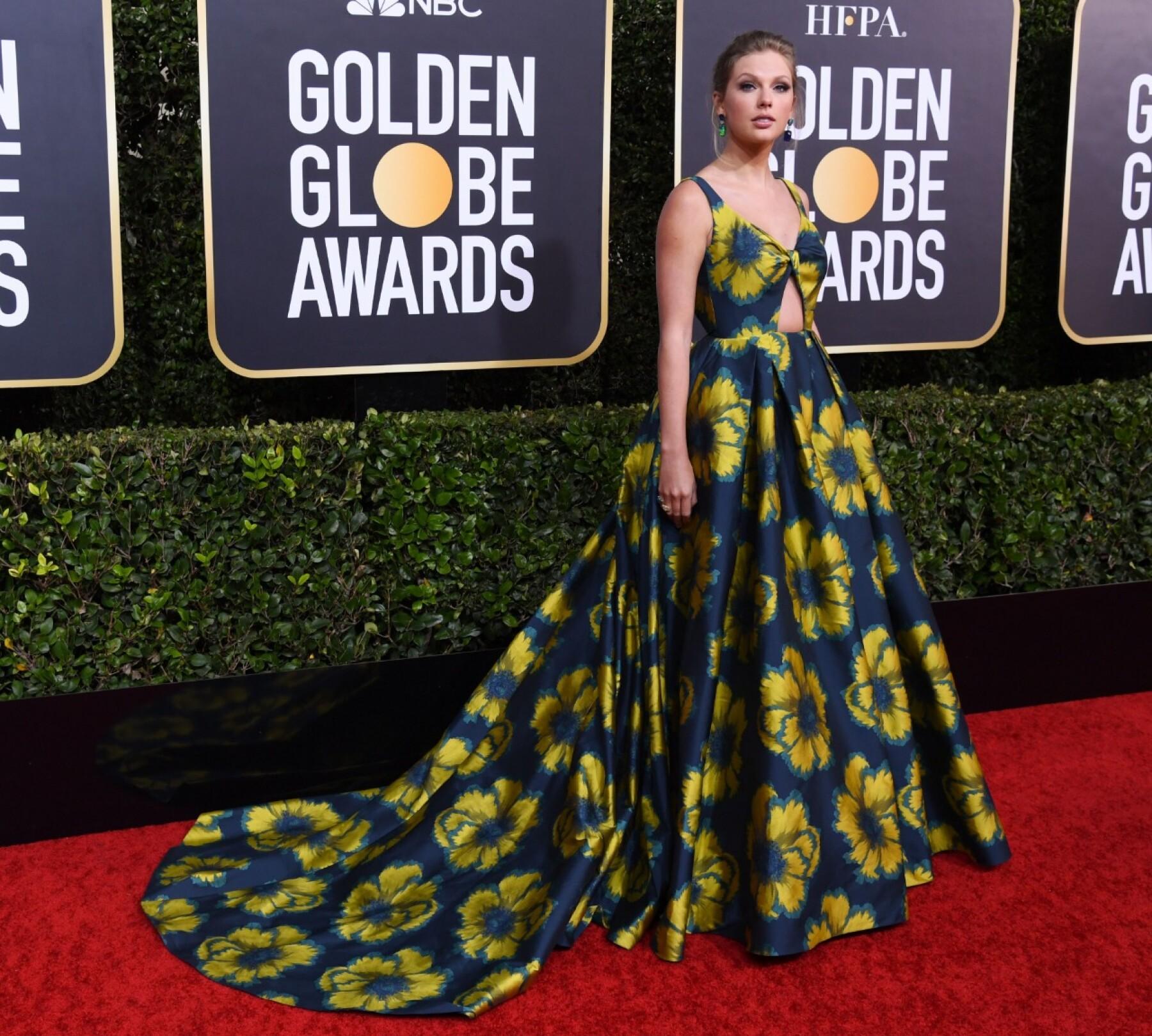 Taylor Swift en Etro para los Golden Globes 2020