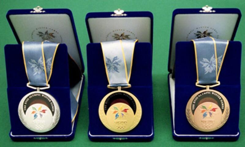 La cantidad de metal contenido en las medallas sólo se conocerá una vez que el diseño haya finalizado. (Foto: AP)