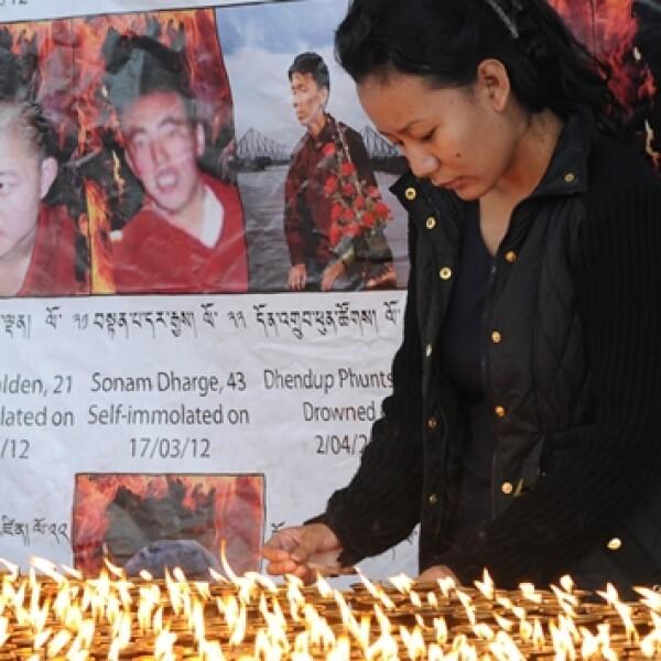 Tibet, monjes, protestas, muertes, auto-inmolacion, exilio