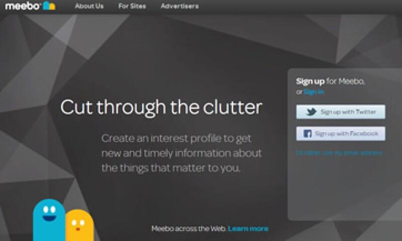 Meebo permite que se promocionen productos de manera interactiva. (Foto: Tomada de meebo.com)
