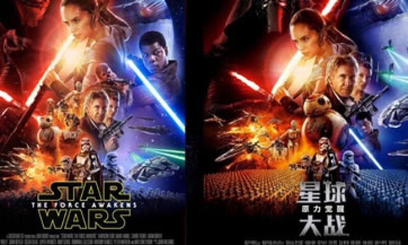 Hay una gran diferencia entre el cartel en EU (izq) y el de China (der.) (Foto: Lucasfilm)