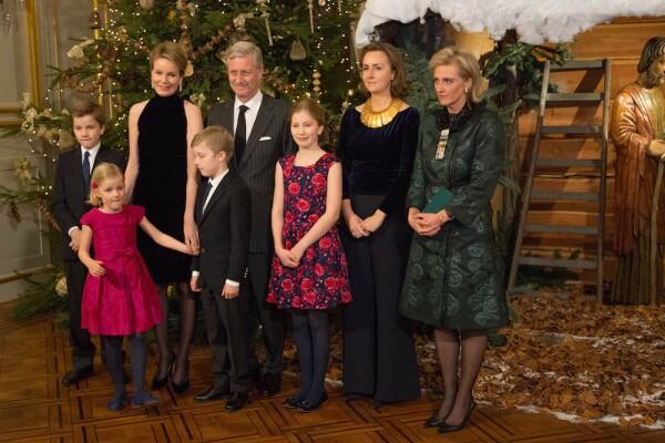 Belgian Royal Family Attends Christmas Concert At Royal Palace