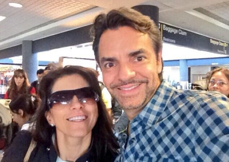 Eugenio compartió esta imagen en su Twitter de su llegada al aeropuerto.
