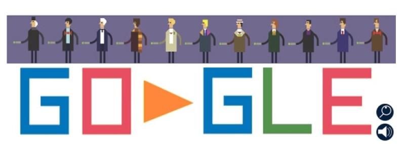 El doodle de este viernes muestra al Doctor Misterio en seis lugares diferentes.