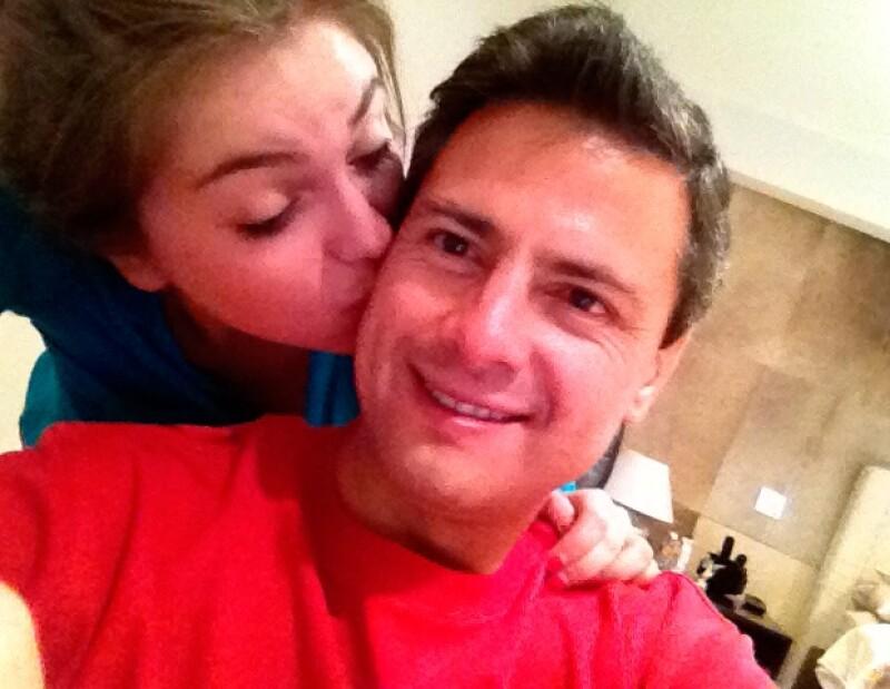 """Sofía tiene una excelente relación con el esposo de su mamá, Enrique Peña Nieto, a quien cariñosamente llama """"Pa2""""."""