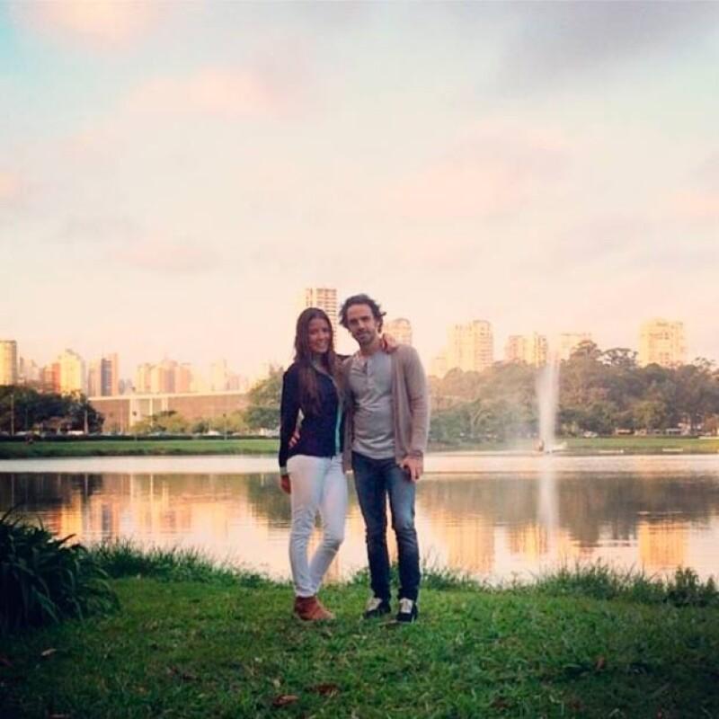 La pareja se encuentra en Brasil para disfrutar del Mundial.