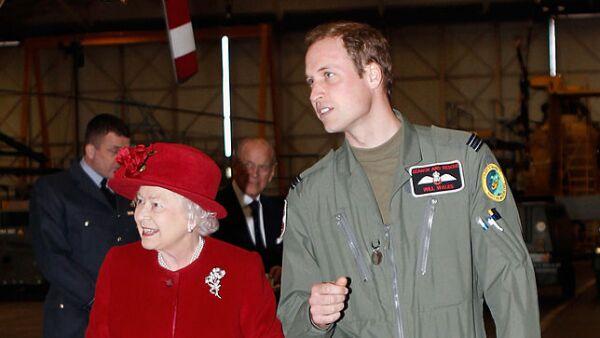 Reina Isabel II y el príncipe William