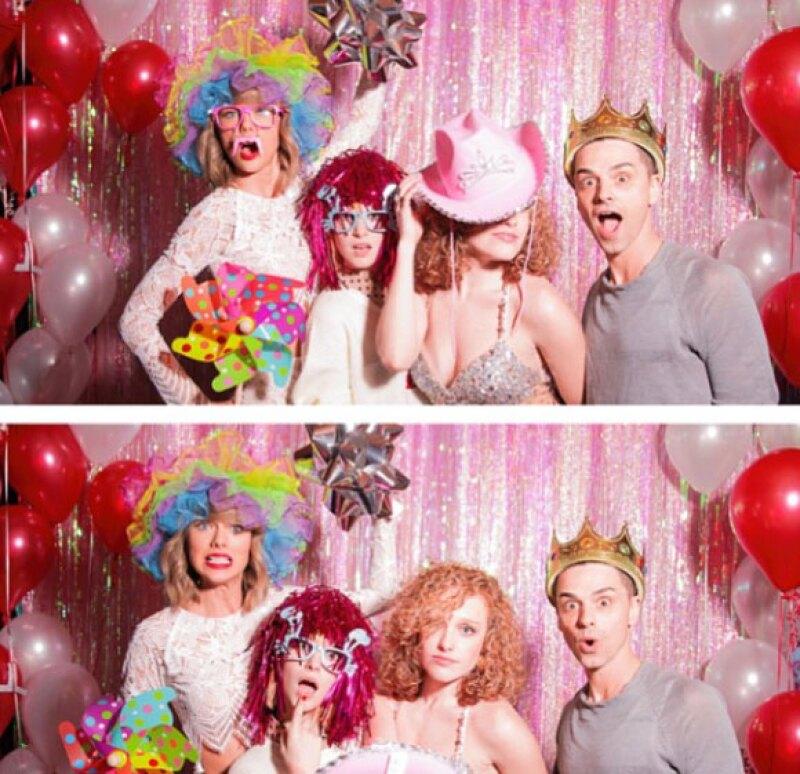 Haley Williams, de Paramore, también se hizo presente en la fiesta.