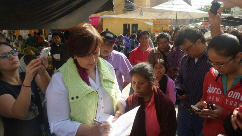 La candidata independiente se comprometió a derogar la conocida 'Ley Bala'  que mató a un menor de edad durante una manifestación el 9 de julio de 2014.