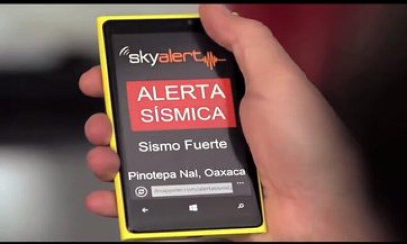 Las apps de alerta sísmica ya rebasan el millón de descargas (Foto: Cortesía SkyAlert)