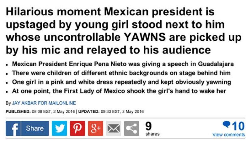 El Daily Mail retomó la noticia que se hizo viral en redes sociales.