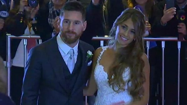 Las primeras imágenes de Messi y Antonella como marido y mujer