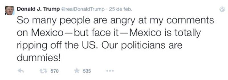 Este fue el último mensaje que publicó el magnate en su cuenta de Twitter.