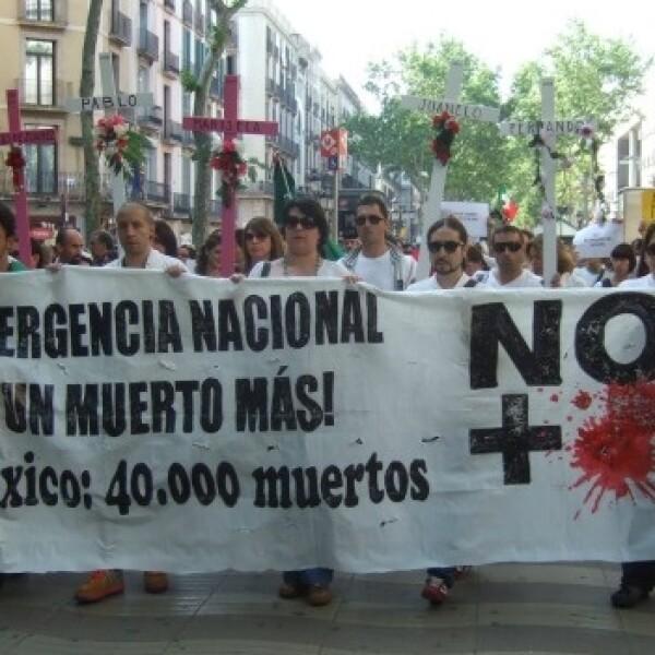 marcha por la paz en barcelona
