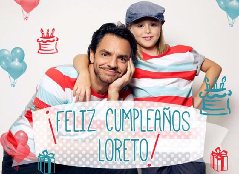 Con esta imagen y un tierno mensaje en Twitter, fue como Eugenio Derbez felicitó a Loreto.