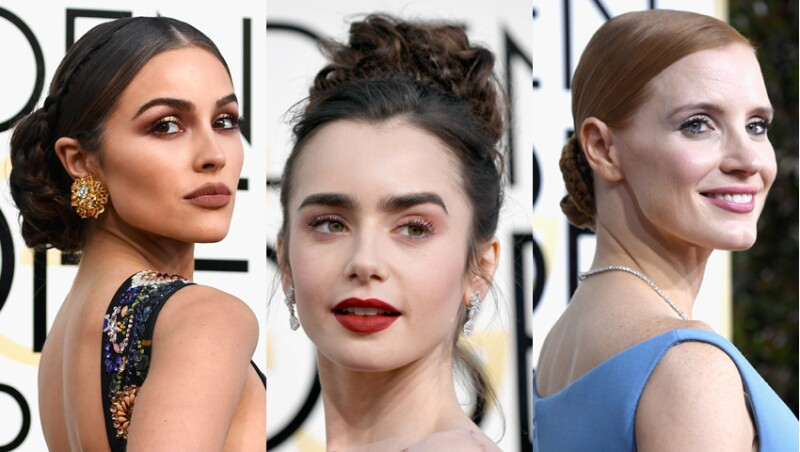 Olivia Culpo, Lily Collins y Jessica Chastain.