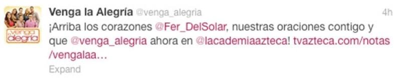 Sus compañeros del programa matutino también demostraron su apoyo a Del Solar.