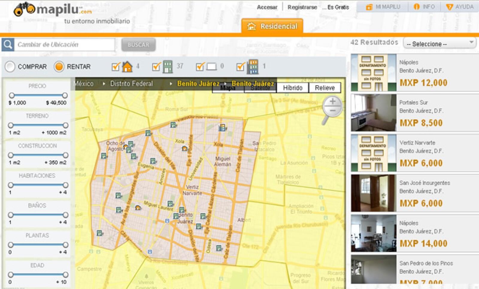 El sistema Mapilu SAPI permite analizar el entorno inmobiliario, buscando las principales necesidades del usuario.