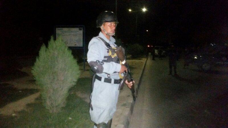 La policía resguarda la zona