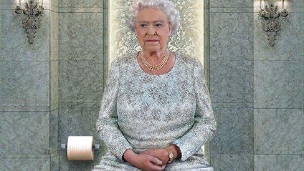 Cada baño va acorde con la personalidad del líder religioso o jefe de Estado. Aquí, la reina Isabel II de Inglaterra.