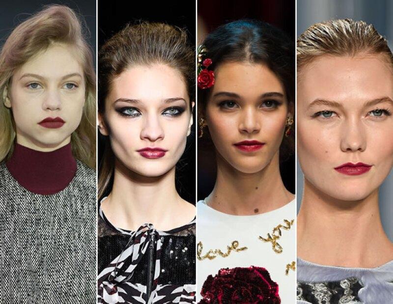 El tono vino fue muy visto especialmente en las pasarelas de Roksanda, John Richmond, Dolce and Gabbana y Carolina Herrera.