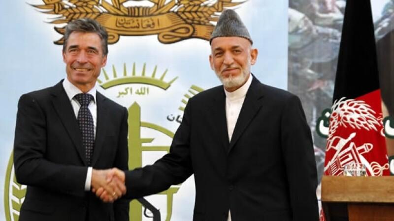 Anders Fogh Rasmussen Hamid Karzai