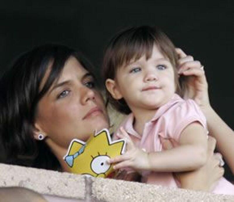 La actriz tiene una hija, Suri, de dos años, y está fascinada con construirle juegos de jardín.
