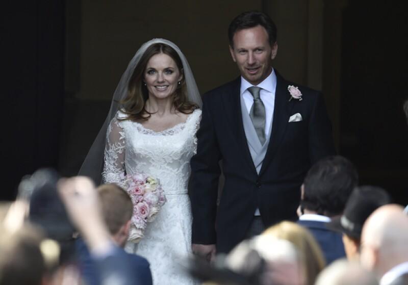 La ex 'Spice Girl' se casó el día de hoy con el jefe de escudería de Fórmula 1, quien dejó a quien fuera su esposa por 14 años a poco de conocer a la cantante.