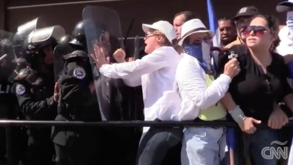 Manifestantes en Nicaragua denuncian que fueron golpeados por la policía