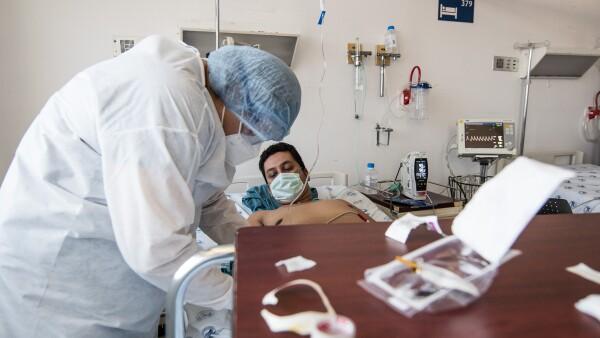 Área de recuperación de pacientes COVID-19 del Hospital Juárez