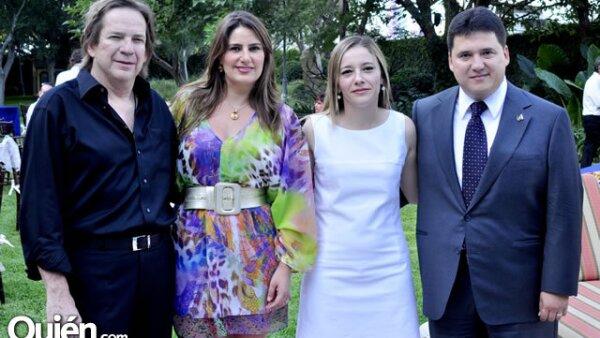 Sergio Gutiérrez, Alejandra Hinojosa de Gutiérrez, Cecilia Rodríguez y Ugo Ruiz