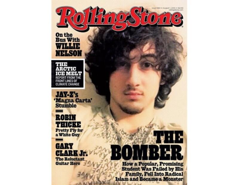 """Palabras como """"de mal gusto"""", """"repugnante"""" y """"asqueroso"""" circularon en las redes sociales al darse a conocer que la revista decidió poner en portada a Dzhokhar Tsarnaev."""